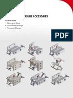 SmartLine Pressure Accessories -Manifold Catalogue