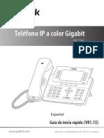 Yealink SIP-T29G Quick Start Guide V81 15 Spanish