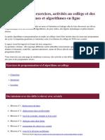 Scratch Exercices Activites Au College Et Des Programmes Et Algorithmes en Ligne