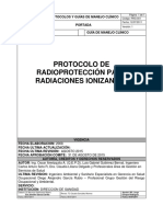 protoocolo radioproteccion