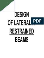 1st_design of Steel Beams (I)