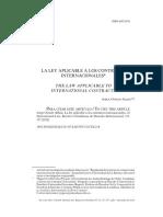 3. Ley Aplicable a Los Contratos Internacionales -