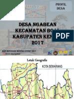 Profil Desa Ngabean 2017