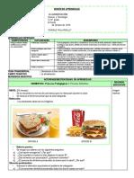 Sesión de Aprendizaje de Alimentacion Junio 25