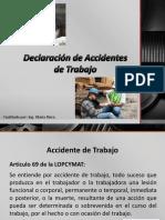 Declaración de Accidentes de Trabajo