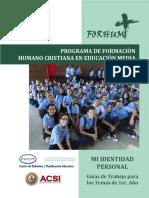 Programa de Formación Humano Cristiana en Educación Media