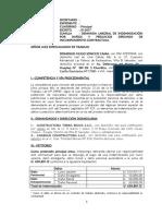 Demanda Laboral Indemnizacion Accidente de Trabajo  (Nlpt)