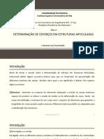 Tema 2. Determinaçao de Esforços Em Estruturas Articuladas