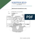 Presupuesto de Diseño de Carta