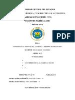 Informe 1. Consistencia Normal y Tiempos de Fraguado.