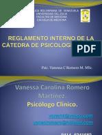 Reglamento Interno de La Cátedra de Psicología Médica