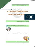 02 Curso POP UNIDAVI Policia Comunitaria e POP