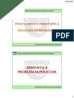 08 Curso POP UNIDAVI Resposta a Problemas Policiais