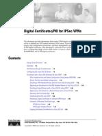 Cisco Digital Certificates/PKI for IPSec VPNs