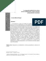 La Suspension Judicial de Los Efectos Del Acto Administrativo Segun La Doctrina Jurisprudencial Venezolana