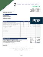 Cotizacion 160-19 Equipo Medico Medicaretech