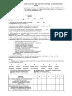 Mkt Questionnaire Revise