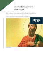 Cartas o Libros de San Pablo
