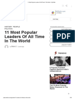 11 Most Popular Leaders of All Time in the World - ALLRefer
