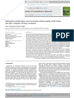Masticatory Performance and Oral Health-related Quality of Life Before and After Complete Denture Treatment
