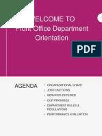 Department Orientation - Front Office.pptx