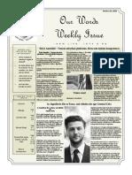 Newsletter Volume 10 Issue 38