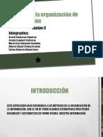 Estructura y organización de las ideas