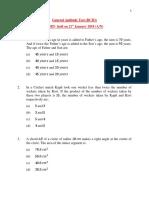 Question Paper DCIO UPSC 2016