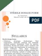 Sterile Dosage Form