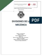 Divisiones de La Fisica
