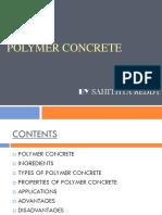 Polymer concrete