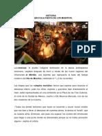 Historia Fiesta de Muertos México