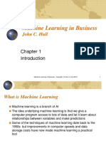Machine Learning in Business - Chapter 1