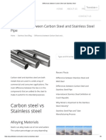 Differences Between Carbon Steel and Stainless Steel