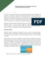 Diseño y Planificación de Actividades Para Una Acción Ecológica Activa