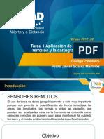 Tarea 1. Aplicabilidad de Los Sensores Remotos y La Cartografia Tematica