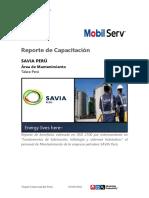 Reporte de capacitación Fundamentos de lubricación, tribología -SAVIA Peru.pdf