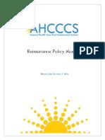Re Insurance Processing Manual December 12016 Final