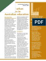 Rural and urban education in Australia
