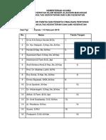 Daftar Hadir Tim Borang 1
