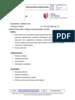 Modelo requisitos trabajo