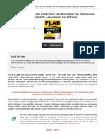 9781610725088 Plab Exam Secrets Study Guide Plab Test Review f