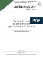 06) Brousseau, K., Driver, M. (2006). El Estilo de Toma de Decisiones Del Ejecutivo Experimentado. Harvard Business Review. América Latina , Pp. 1-11