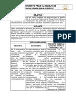 Procedimiento Integral de Recolecion y Manejo de Residuos Peligros - Respel