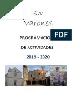 1 Cronograma Misioneros Ismi Ecuador 2019 - 2020