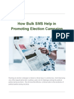 How Bulk SMS Help in Promoting Election Campaign