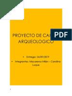 Proyecto de Campo Arqueologico