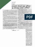 Philippine Star, Oct. 30, 2019, Leni should shut up after refusing drug czar offer.pdf