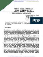 Los Inicios de La Actividad Notarial en México y Su Importancia Para La Historia Del Derecho Mexicano
