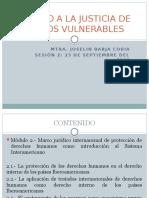 Acceso a la justicia de grupos vulnerables
